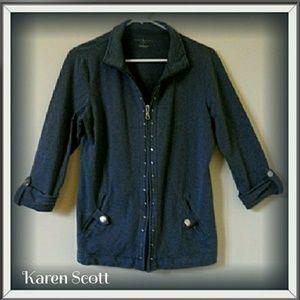 Zippered shirt/sweatshirt